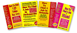 Books on How to Find A Job In Jacksonville, Miami, Orlando, Tampa Bay Area